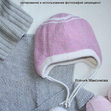 Clothing handmade. Livemaster - original item Caps: The hat is double of Merino. Handmade.