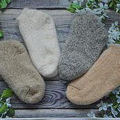 Аксессуары handmade. Livemaster - original item Short down socks. Handmade.