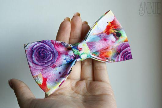 Галстуки, бабочки ручной работы. Ярмарка Мастеров - ручная работа. Купить Галстук-бабочка радужный. Handmade. Галстук-бабочка, цветочный