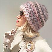 Аксессуары ручной работы. Ярмарка Мастеров - ручная работа Теплая вязаная шапка Клевер из кид-мохера. Handmade.