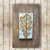 Картины и панно ручной работы. Ярмарка Мастеров - ручная работа Лист дуба. Handmade.