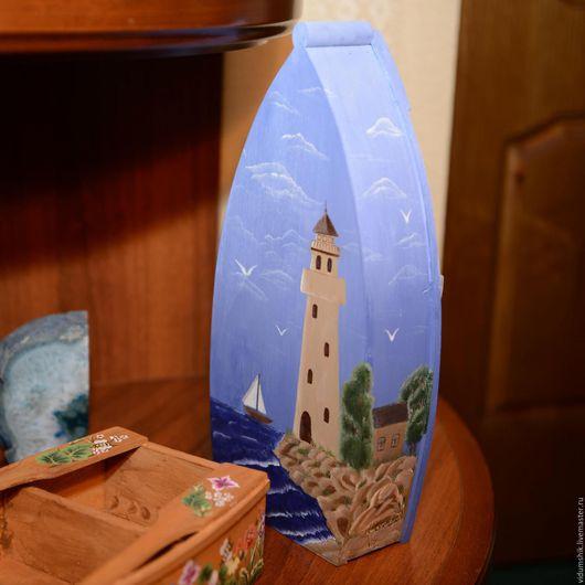 Персональные подарки ручной работы. Ярмарка Мастеров - ручная работа. Купить Лодка деревянная с ручной росписью. Handmade. Лодка