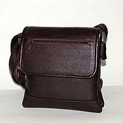 Сумки и аксессуары handmade. Livemaster - original item Mens leather handbag brown