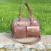 Сумки и аксессуары handmade. Livemaster - original item Women`s leather bag for all occasions cognac color. Handmade.