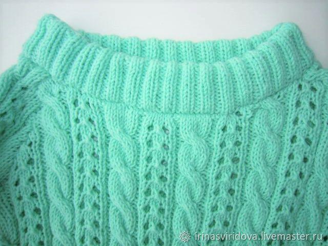 Пуловер для девочки Нежная мята