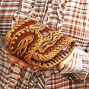 Сумки и аксессуары handmade. Livemaster - original item Men`s purse handmade with fire. Handmade.