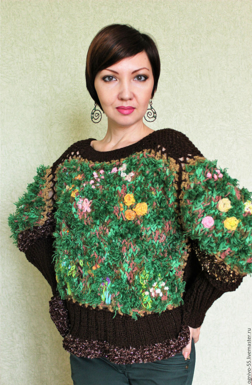 Jumper-picture ' Forest nymph', Jumpers, Astrakhan,  Фото №1