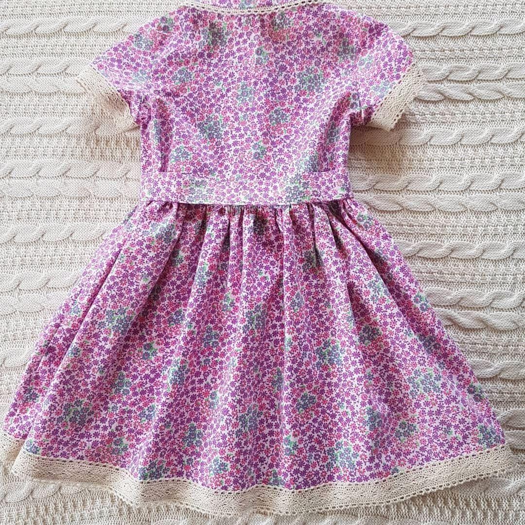 Платье из хлопка винтаж
