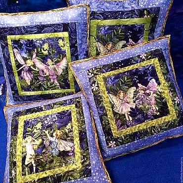 Для дома и интерьера handmade. Livemaster - original item Cushion  Fairies. Handmade.