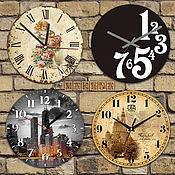 Для дома и интерьера ручной работы. Ярмарка Мастеров - ручная работа Настенные часы с логотипом.. Handmade.