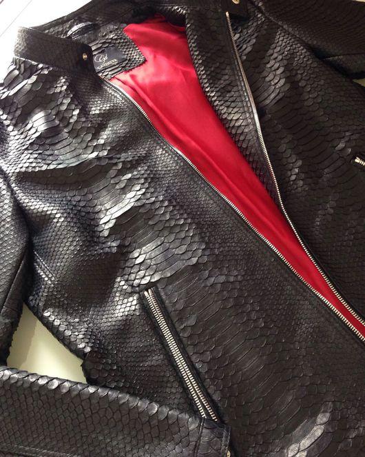 Верхняя одежда ручной работы. Ярмарка Мастеров - ручная работа. Купить Мужская куртка из кожи питона. Handmade. Куртка из питона