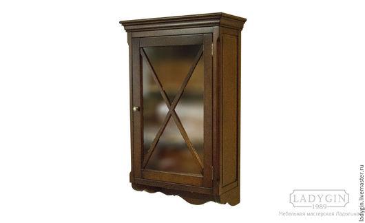 Мебель ручной работы. Ярмарка Мастеров - ручная работа. Купить Деревянный винтажный навесной шкафчик в стиле прованс. Handmade.