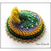 """Украшения handmade. Livemaster - original item Embroided brooch """"Dandelion"""". Handmade."""