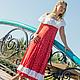 """Платья ручной работы. Ярмарка Мастеров - ручная работа. Купить Платье """"Ах... лето"""".. Handmade. Разноцветный, Платье нарядное, летнее"""