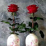 Цветы и флористика handmade. Livemaster - original item BOUQUETS: Rose with thorns made of cold porcelain. Handmade.