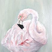 handmade. Livemaster - original item Flamingo Oil painting 30 x 40 cm tropical birds. Handmade.
