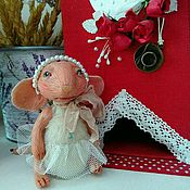 Куклы и игрушки ручной работы. Ярмарка Мастеров - ручная работа Мышка розовая.. Handmade.