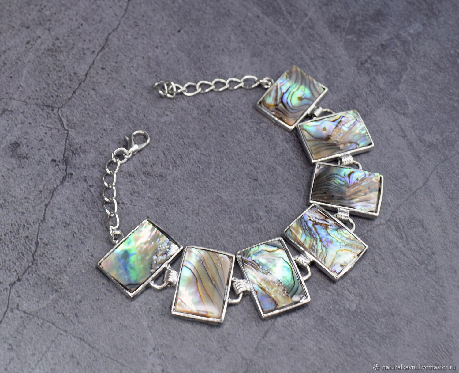 Bracelet made of natural mother-of-pearl haliotis, Bead bracelet, Moscow,  Фото №1
