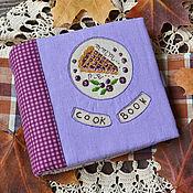 "Канцелярские товары ручной работы. Ярмарка Мастеров - ручная работа Блокнот с вышивкой на кольцах ""Blueberry pie"". Handmade."