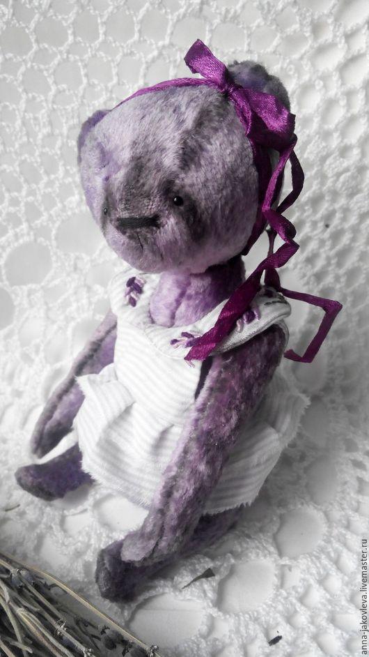 Мишки Тедди ручной работы. Ярмарка Мастеров - ручная работа. Купить Мишка Тедди Лаванда. Handmade. Тёмно-фиолетовый, тедди