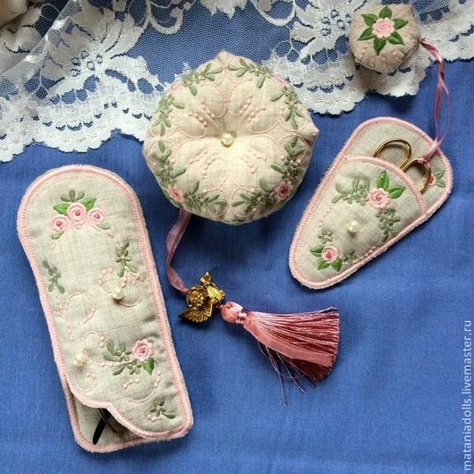 """Персональные подарки ручной работы. Ярмарка Мастеров - ручная работа. Купить Набор """"Shabby rose"""". Handmade. Серый, подарок для женщины"""