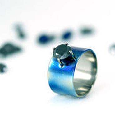 Украшения ручной работы. Ярмарка Мастеров - ручная работа Кольцо из титана, кольцо титан, кольцо с камнем, широкое кольцо. Handmade.