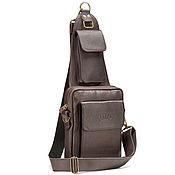Сумки и аксессуары handmade. Livemaster - original item Leather chest bag