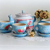 Посуда ручной работы. Ярмарка Мастеров - ручная работа Набор Время пить чай. Handmade.