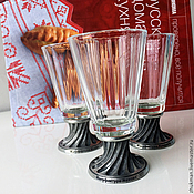 Русский стиль handmade. Livemaster - original item A set For the road of 3 faceted glasses (50 ml). Handmade.
