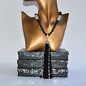 Украшения handmade. Livemaster - original item Black Onyx Sotuar with a brush Author`s work. Handmade.