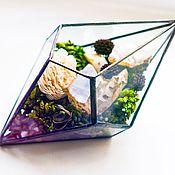 Для дома и интерьера ручной работы. Ярмарка Мастеров - ручная работа террариум флорариум из стекла для растений цветов суккулентов, украшен. Handmade.