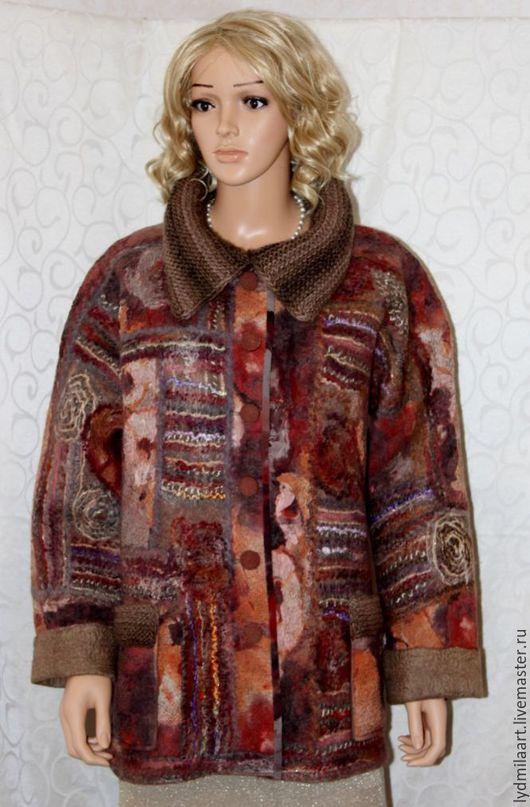 Пиджаки, жакеты ручной работы. Ярмарка Мастеров - ручная работа. Купить Жакет валяный «Золотая осень». Handmade. Рыжий, подарок
