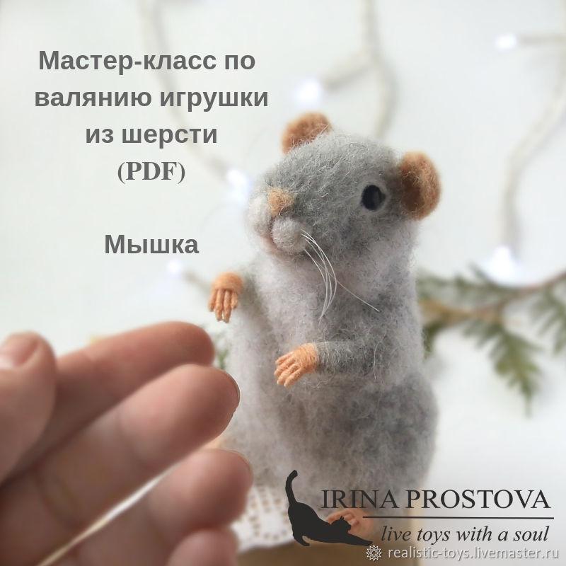 Мастер-класс по валянию игрушек из шерсти. Мышка, Войлок, Москва,  Фото №1