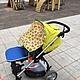 Универсальная защитная накидка на коляску или автокресло. Козырек для коляски. ZhuksE. Ярмарка Мастеров.  Фото №4