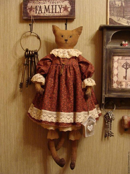 """Ароматизированные куклы ручной работы. Ярмарка Мастеров - ручная работа. Купить Кошка и ее дом..""""Счастлив тот, кто счастлив у себя дома....."""". Handmade."""