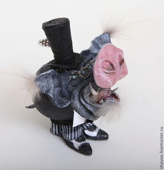 Куклы и игрушки ручной работы. Ярмарка Мастеров - ручная работа. Купить Пьер Беспятачкофф. Handmade. Темно-серый, хрюша, кабан