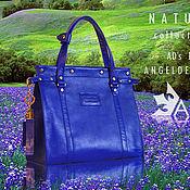 Классическая сумка ручной работы. Ярмарка Мастеров - ручная работа Сумка Nature Xenia Blue. Handmade.