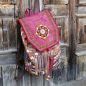 Сумки и аксессуары handmade. Livemaster - original item Backpack made of marble canvas and tapestry