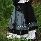 """Одежда ручной работы. Ярмарка Мастеров - ручная работа Юбка в стиле бохо """"Вечерняя дымка"""". Handmade."""