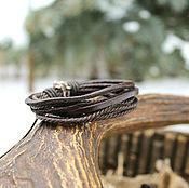 Украшения handmade. Livemaster - original item Leather friendship bracelet