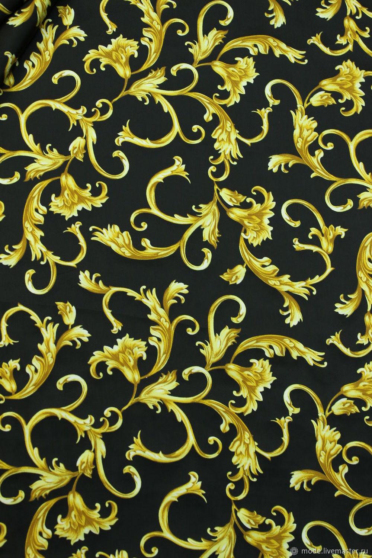 Вискоза Versace черная с золотом, арт. 89Р18-3, Ткани, Искитим,  Фото №1
