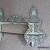 "Для дома и интерьера manualidades. Livemaster - hecho a mano wall shelf - ""wild Flowers"". Handmade."
