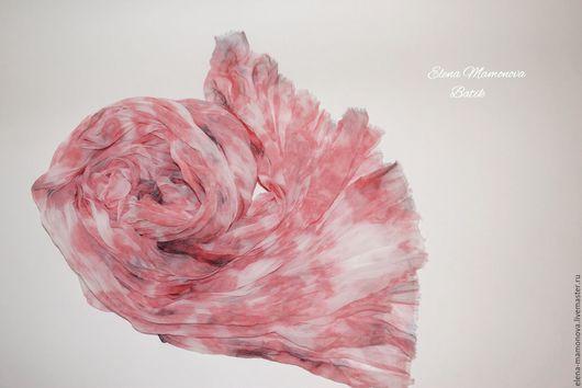 Шарфы и шарфики ручной работы. Ярмарка Мастеров - ручная работа. Купить Шарф батик Лепестки роз, шелковый шарф батик в бохо стиле. Handmade.
