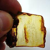 Картины и панно handmade. Livemaster - original item Temple. Amber intaglio St-028. Handmade.