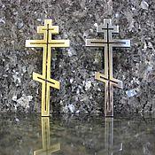 Картины и панно ручной работы. Ярмарка Мастеров - ручная работа Православный крест из металла. Handmade.