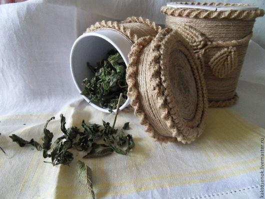 Кухня ручной работы. Ярмарка Мастеров - ручная работа. Купить Баночка для сухих трав. Handmade. Бежевый, кухня ручной работы