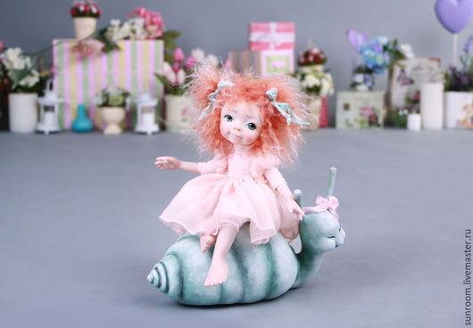 Коллекционные куклы ручной работы. Ярмарка Мастеров - ручная работа. Купить Волшебная страна. Handmade. Кремовый, серый, мех ламы