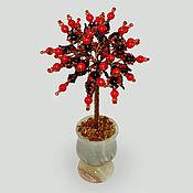 Цветы и флористика handmade. Livemaster - original item Wood of agate and coral