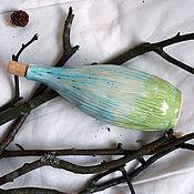 """Посуда ручной работы. Ярмарка Мастеров - ручная работа Бутылка/ваза керамическая """"Blue In Green"""". Handmade."""