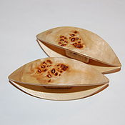 Материалы для творчества handmade. Livemaster - original item A Pair of Very Large Wooden Tatting Shuttles Hand Made in Maple. Handmade.